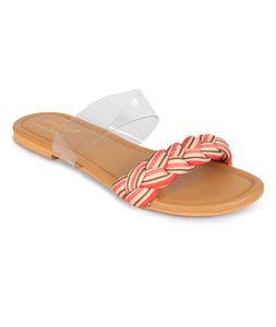 Braided Clear Strap Flats