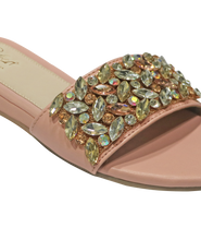 Load image into Gallery viewer, Crystal Slide In Sandal -  Peach