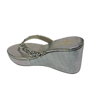 Load image into Gallery viewer, V Glitter Wedges - Grey