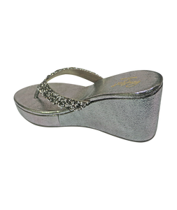 V Glitter Wedges - Grey
