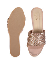 Load image into Gallery viewer, Signora Wedges - Rose Gold