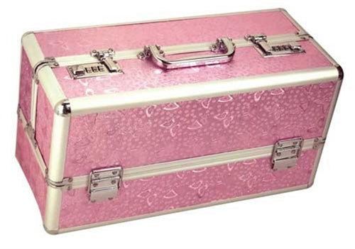 Large Lockable Vibrator Case - Pink BMS098-16