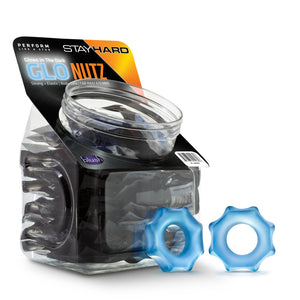 Stay Hard - Glo Nutz - 40 Piece Fishbowl - Blue BL-409992
