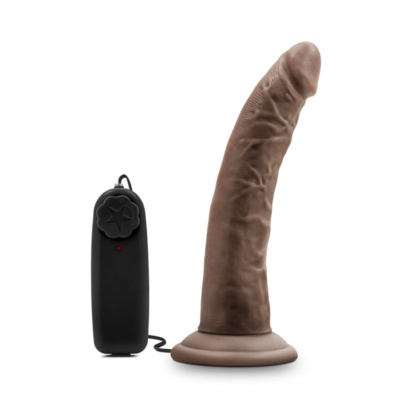 Dr. Skin - Dr. Dave - 7 Inch Vibrating Cock With Suction Cup - Chocolate BL-13706