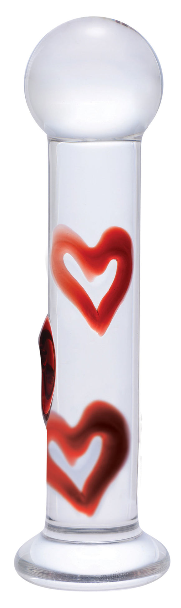 Lil Hearts Glass Plug With Raised Heart Texture PRSM-AE806
