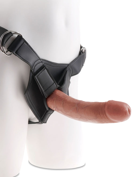 King Cock Strap-on Harness With 8 Cock - Tan PD5623-22
