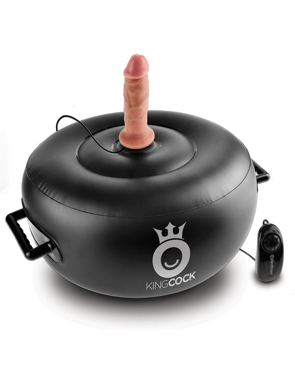 King Cock Vibrating Inflatable Hot Seat - Black PD5681-23