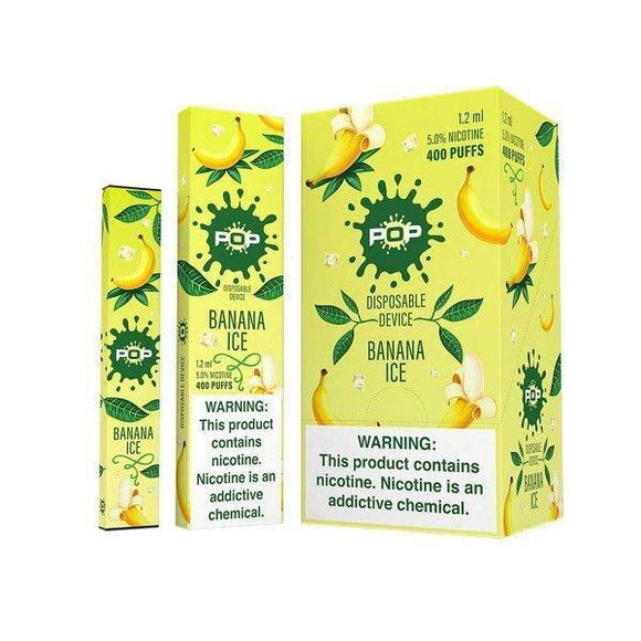 Pop Disposable (5%) - Banana Ice - Box of 10