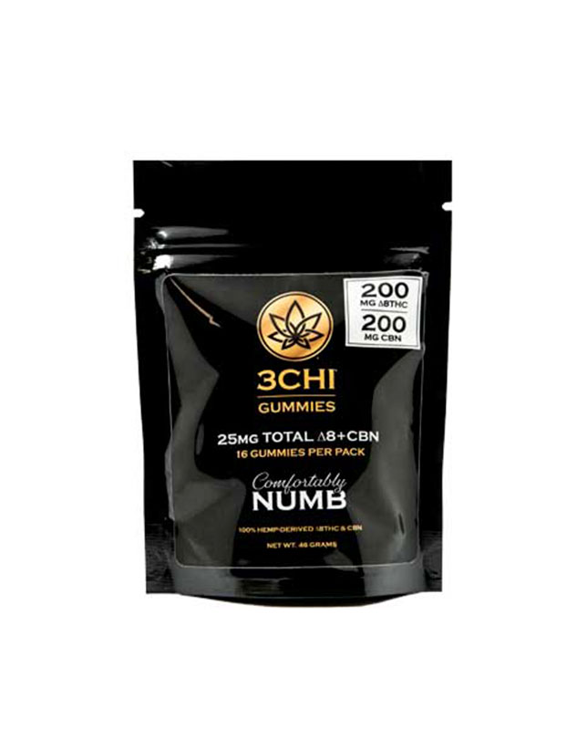 3CHI Comfortably Numb Delta 8:CBN Gummies