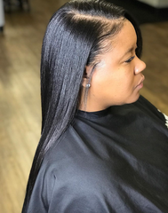 Silk Press on natural hair from hairstylist Schatzi C in Tampa, FL