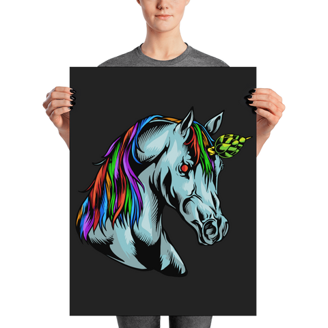 Limited Edition Hop Unicorn Print