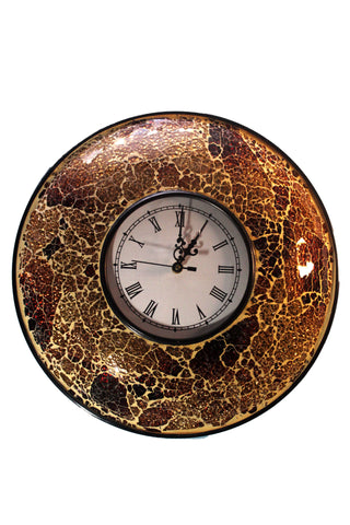 Glass framed wall clock with contemporary design