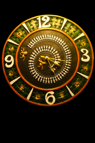 Terracotta wall clock with contemporary design