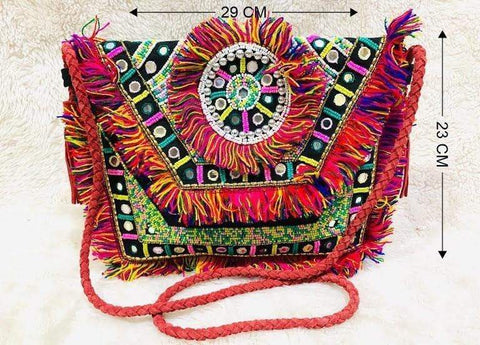 EthniCache Bag Handmade Mixed Hues Sling Bag