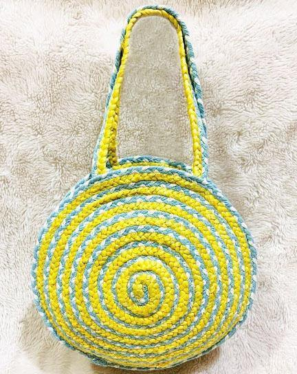EthniCache Bag Handmade Round Colorful Jute Sling Bag