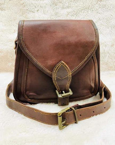 EthniCache Bag Rugged Pure Leather Sling Bag