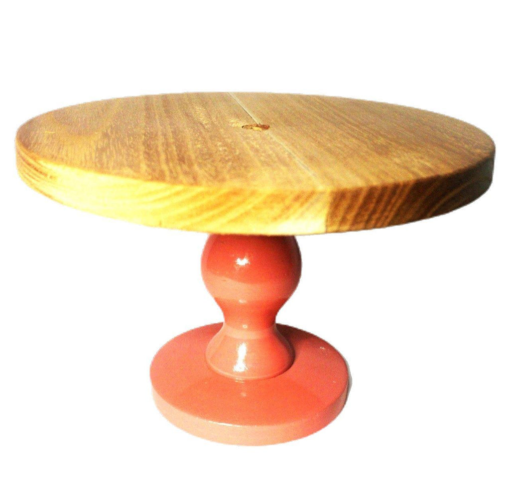 EthniCache Cake Stand Handmade Rose Colored Wooden Cake Stand