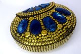 EthniCache Clutch Golden Metal Tikli Clutch Bag
