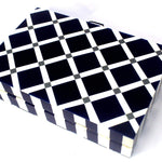 EthniCache Clutch Navy Blue and White Resin Clutch Bag
