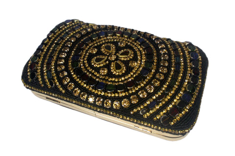 EthniCache Clutch Traditional Beaded Hand Purse