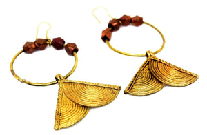 EthniCache Dhokra Jewelry Four Semicircles Dhokra Earrings