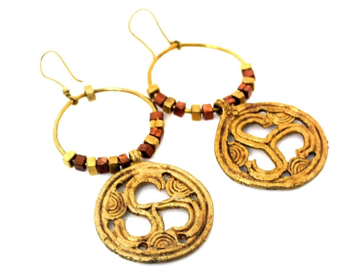 EthniCache Dhokra Jewelry Harrappa Dhokra earrings