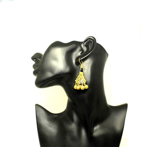 EthniCache Dhokra Jewelry Square Circles Dhokra Earrings