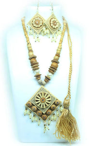 EthniCache Jute Jewelry Ethnic Yellow Jute Set