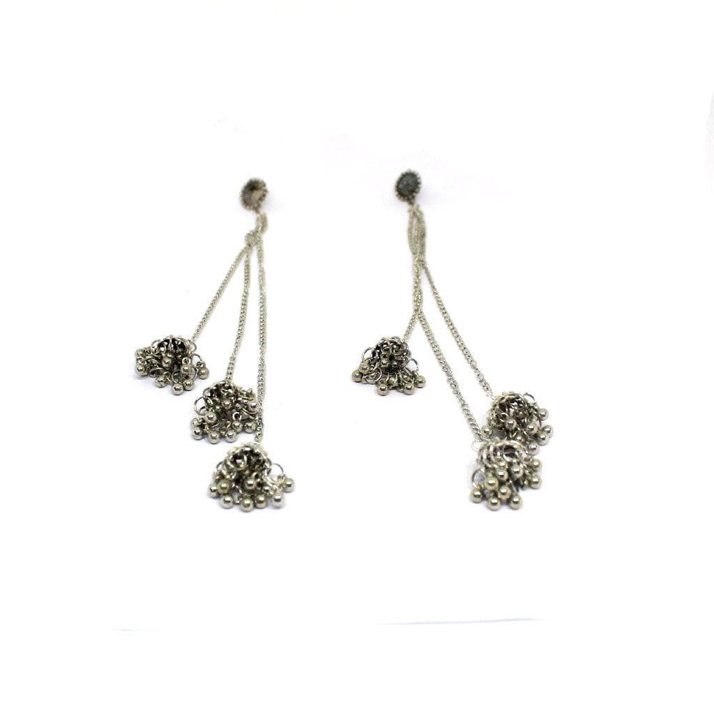 EthniCache Oxidized Jewelry Handcrafted Oxidized Cute Earrings