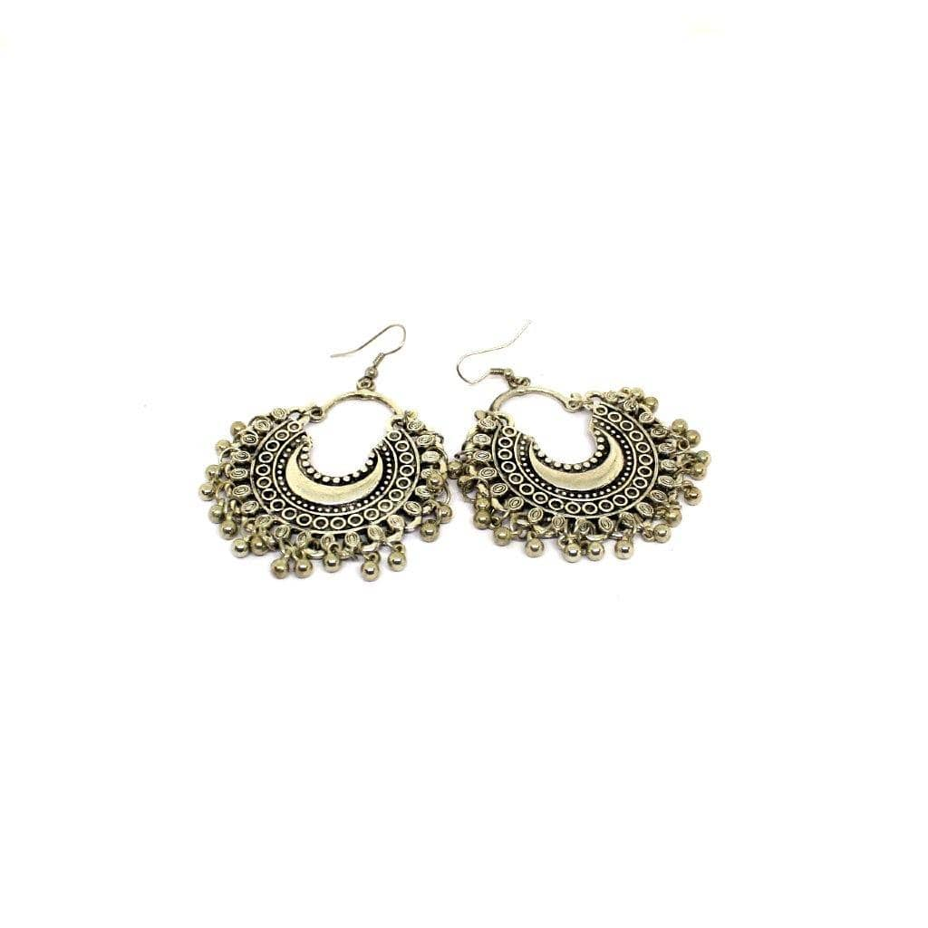 EthniCache Oxidized Jewelry Handcrafted Oxidized Imposing Earrings