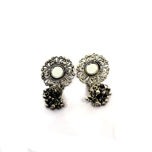 EthniCache Oxidized Jewelry Handcrafted Oxidized Pleasing Earrings