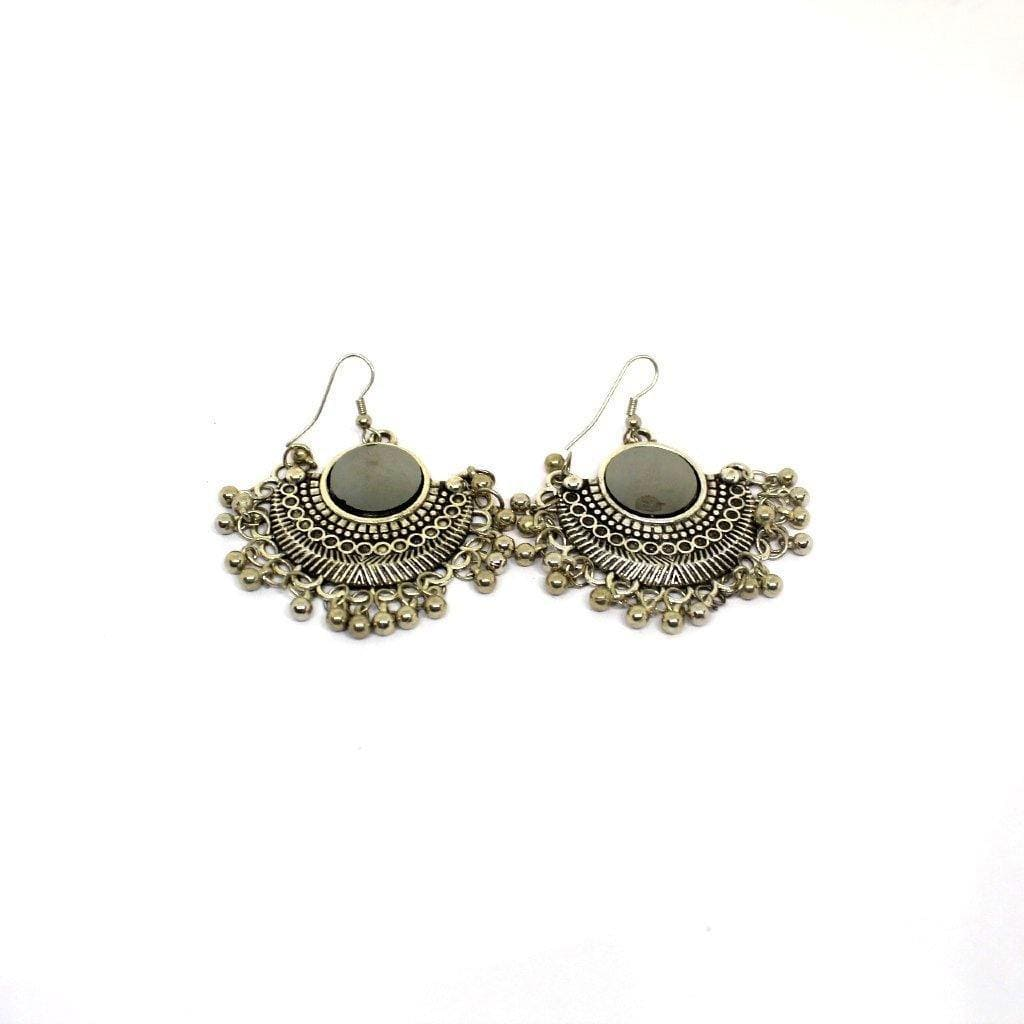 EthniCache Oxidized Jewelry Handcrafted Oxidized Radiant Earrings