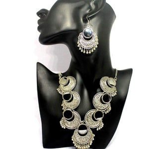 EthniCache Oxidized Jewelry Handcrafted Oxidized Resplendent Necklace