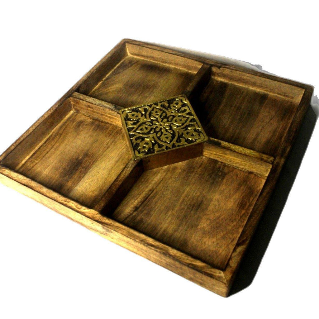 EthniCache Serving Tray Handmade Designer Wooden Serving Tray