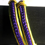 EthniCache Silk Thread Jewelry Blue & Yellow Ethnic Silk Thread Bangle Set (Set of 2 pieces)