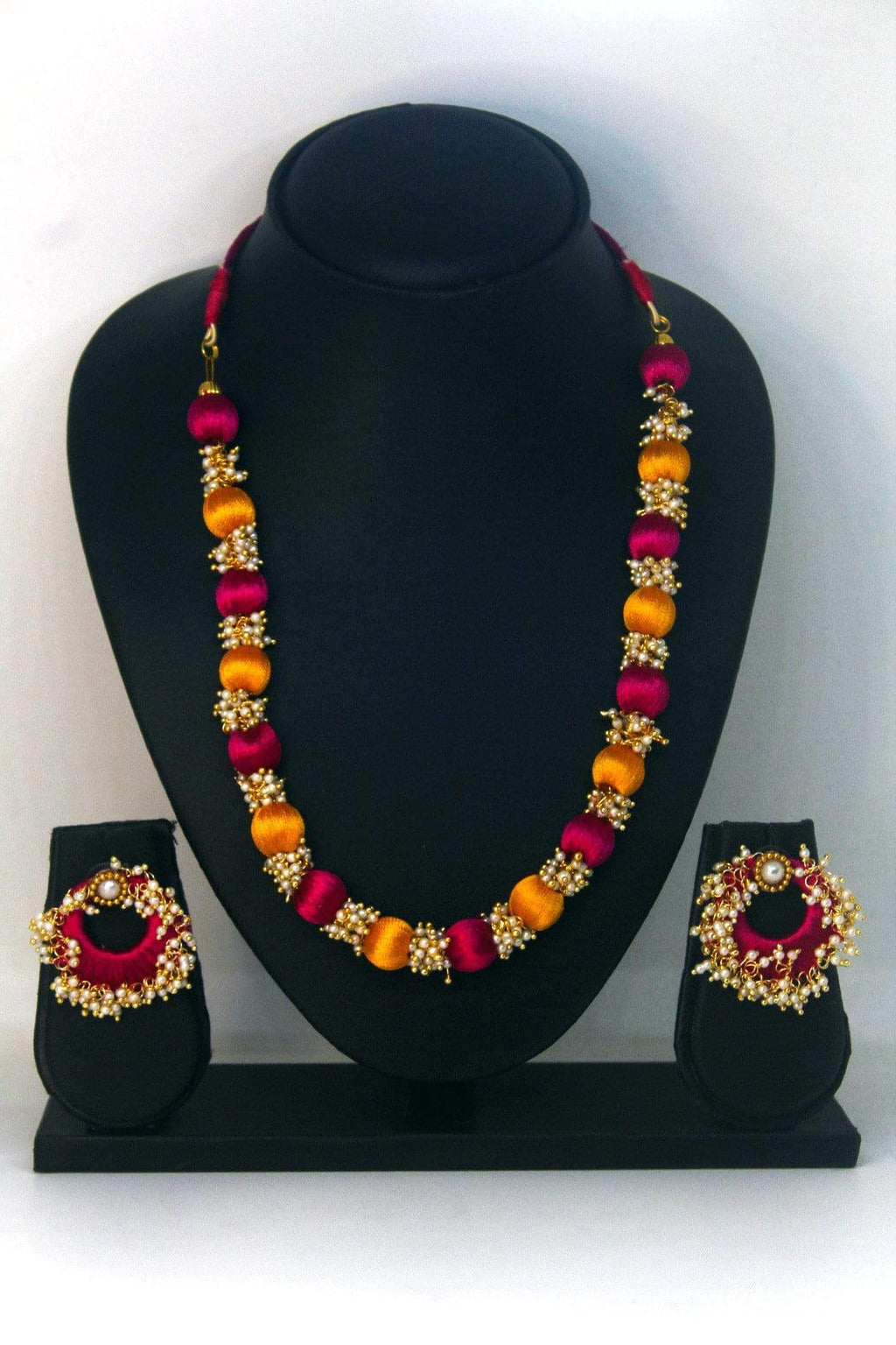 EthniCache™ Silk Thread Jewelry Colourful Silk Thread Jewellery Set