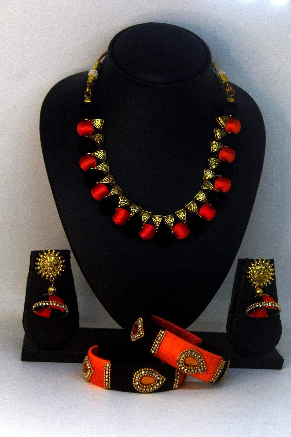 EthniCache™ Silk Thread Jewelry Designer Silk Thread Jewellery Set