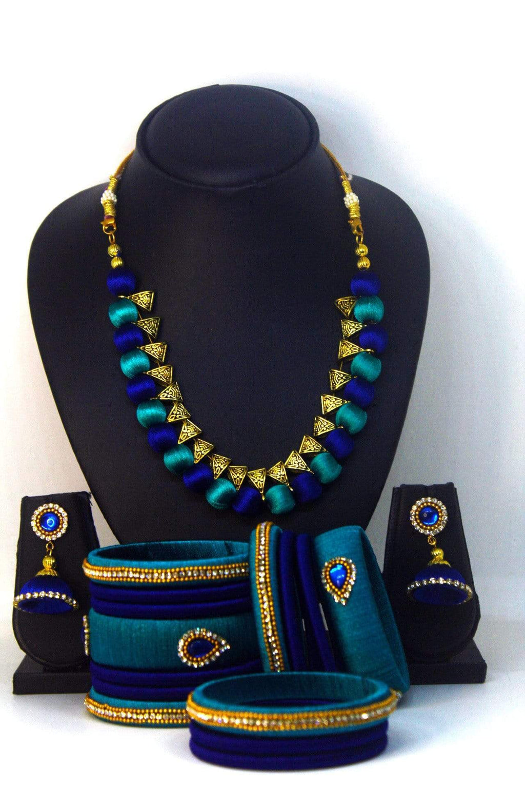 EthniCache™ Silk Thread Jewelry Handcrafted Silk Thread Jewellery Set