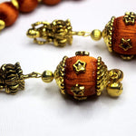 EthniCache Silk Thread Jewelry Traditional Brown Silk Thread Jewelry Set