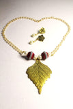 EthniCache Silk Thread Jewelry White & Bronze Ethnic Bead Jewelry Set
