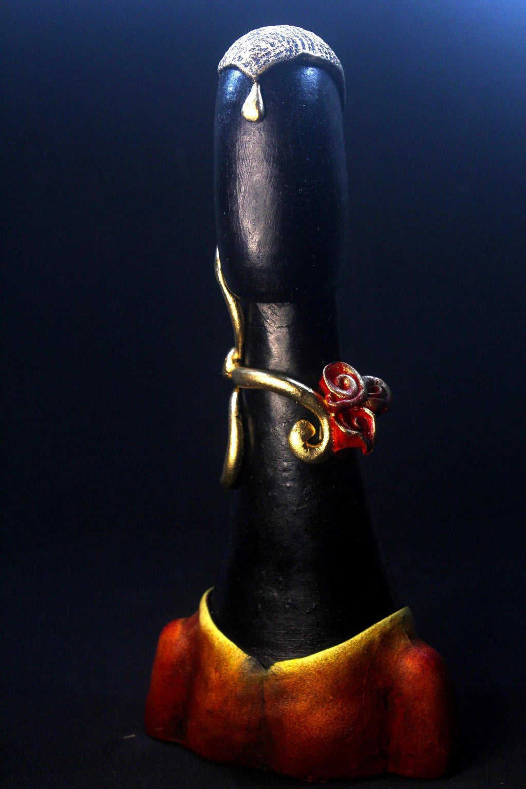 EthniCache™ Statue Handmade Black, Red and Yellow Terracotta Statue Home Decor