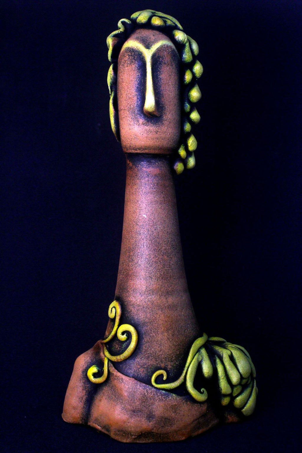 EthniCache™ Statue Handmade Yellow Terracotta Statue Home Decor