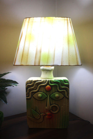 EthniCache Table Lamp Durga Square Terracotta Table Lamp