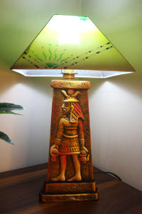 EthniCache Table Lamp Egyptian Gods Terracotta Table Lamp