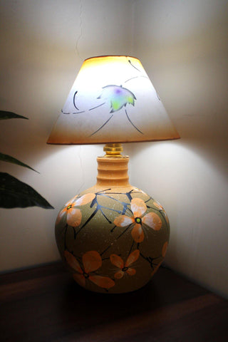 EthniCache Table Lamp Floral Terracotta Table Lamp