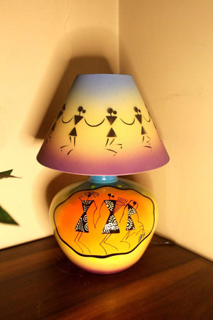 EthniCache Table Lamp Tribal Hues Terracotta Table Lamp