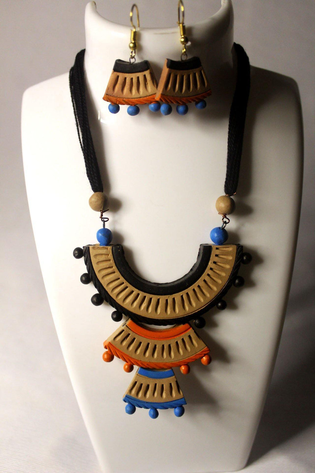 EthniCache Terracotta Jewelry Aesthetic Ethnic Terracotta Set