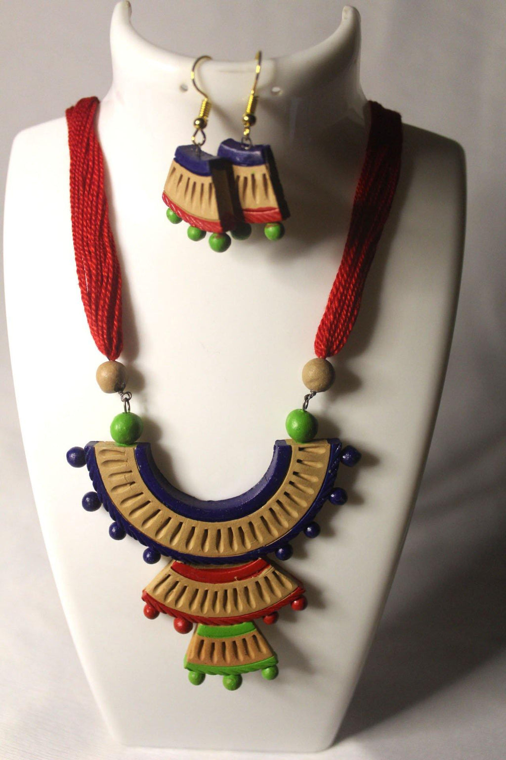 EthniCache Terracotta Jewelry Artistic Ethnic Terracotta Set
