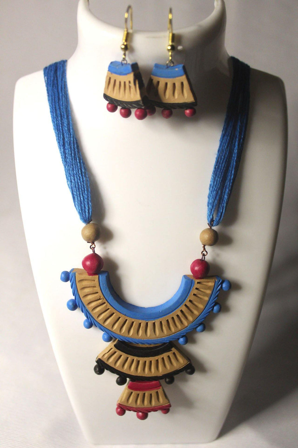 EthniCache Terracotta Jewelry Classic Ethnic Terracotta Set