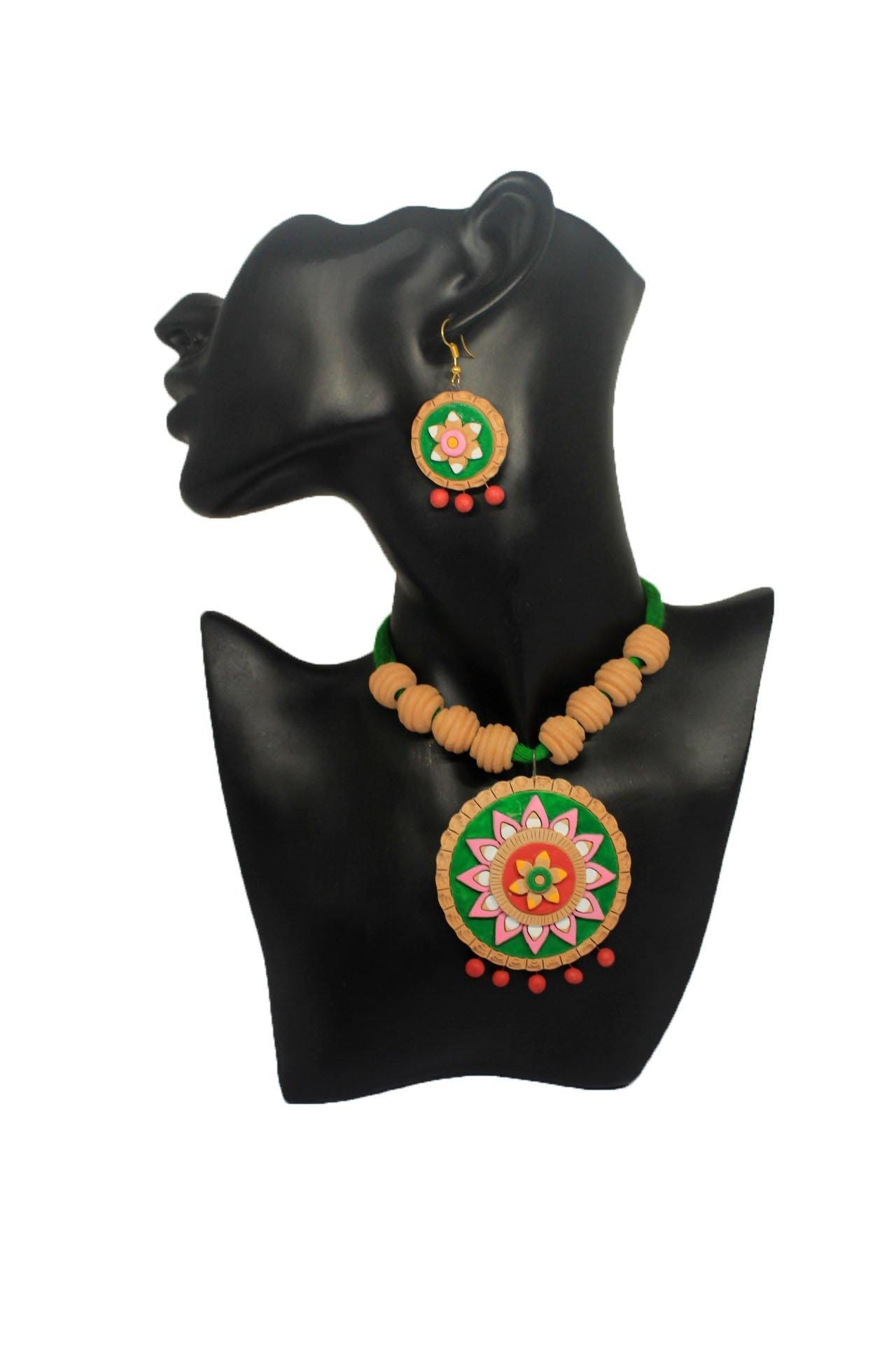 EthniCache Terracotta Jewelry Clay Circle Terracotta Set